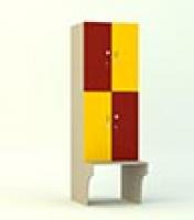 Шкаф с лавкой квадро